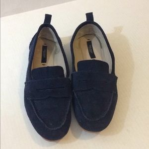 Zara Basic Collection Blue Suede Loafer